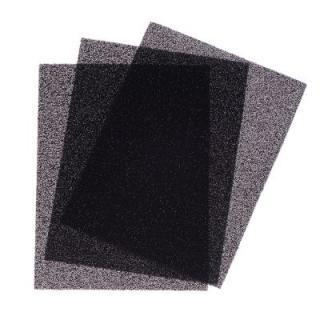 Univerzální filtr s aktivním uhlíkem - 3 kusy á D 20 x Š 15 x V 0,4 cm