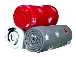 Vánoční deka TRIXIE Yuki fleecová 100x70cm