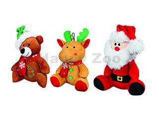 Vánoční hračka TRIXIE plyš - Santa/sob/medvěd 20cm