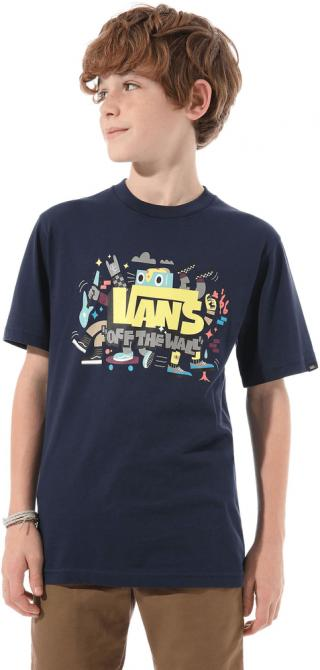 Vans chlapecké tričko S modrá