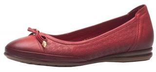 Venüs Dámské kožené baleríny 2010504-319 Red 40
