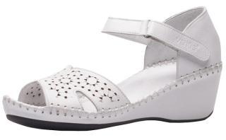 Venüs Dámské kožené sandále 20793061-1723 White 40