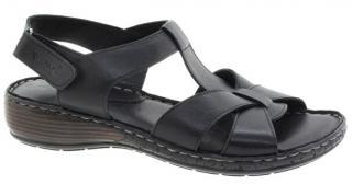 Venüs Dámské kožené sandále 2098027-395 Black 37