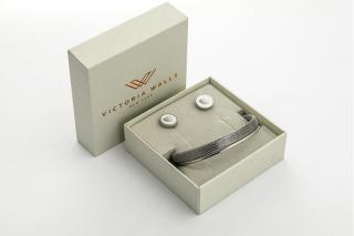 Victoria Walls Postříbřený set náušnic a náramku VS1101S
