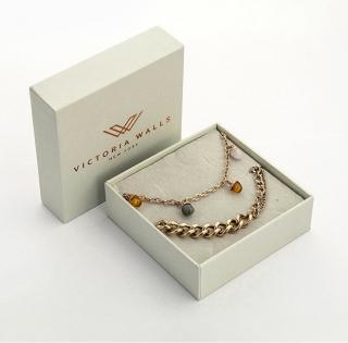 Victoria Walls Pozlacený dvojitý náramek s korálky VS1088R