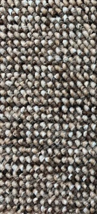 Vopi koberce Běhoun na míru Porto hnědý - šíře 60 cm s obšitím Hnědá