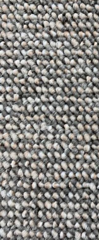 Vopi koberce Běhoun na míru Porto šedý - šíře 60 cm s obšitím Šedá