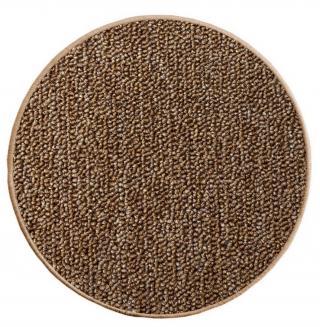 Vopi koberce Kusový koberec Astra hnědá kruh - 100x100  kruh cm