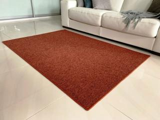 Vopi koberce Kusový koberec Modena terra čtverec - 80x80 cm Oranžová
