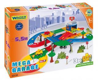 Wader Kid Cars 3D Garáž s dráhou 5,5m - zánovní