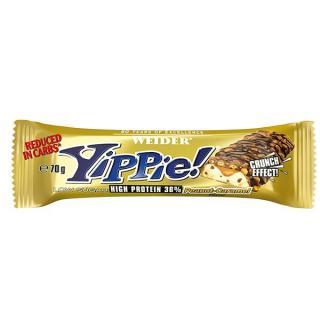 WEIDER Yippie! Bar Peanut-Caramel tyčinka 70 g
