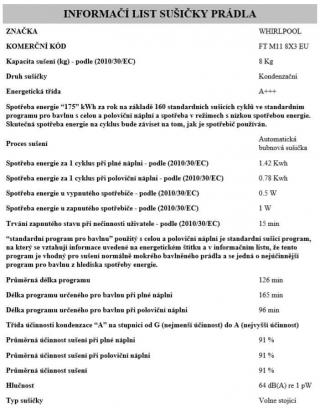 Whirlpool FT M11 8X3 EU - rozbaleno