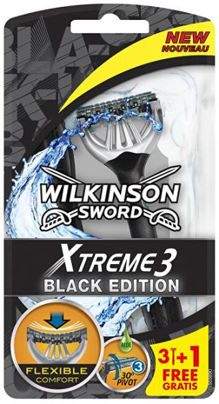 Wilkinson Sword Jednorázový holicí strojek pro muže Wilkinson Xtreme3 Black 4 ks