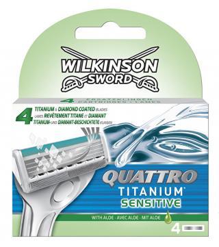 Wilkinson Sword Náhradní hlavice Quattro Titanium Sensitive 4 ks