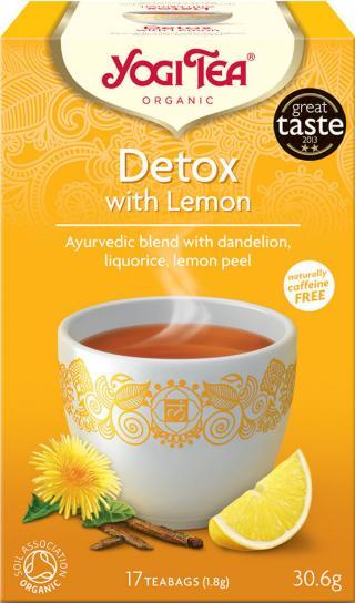 Yogi Tea Bio Detox s citrónem 17x1,8g,Yogi Tea Bio Detox s citrónem 17x1,8g