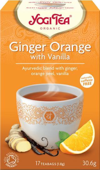 Yogi Tea Bio Zázvor Pomeranč s vanilkou 17x1,8g,Yogi Tea Bio Zázvor Pomeranč s vanilkou 17x1,8g