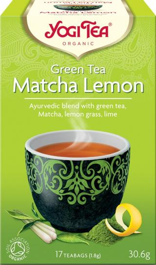 Yogi Tea Bio Zelený čaj Matcha Citrón 17x1,8g,Yogi Tea Bio Zelený čaj Matcha Citrón 17x1,8g