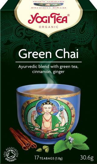 Yogi Tea Bio Zelený chai 17x1,8g,Yogi Tea Bio Zelený chai 17x1,8g