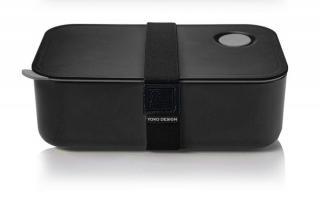 Yoko Design Svačinový box na jídlo 1l černá - zánovní