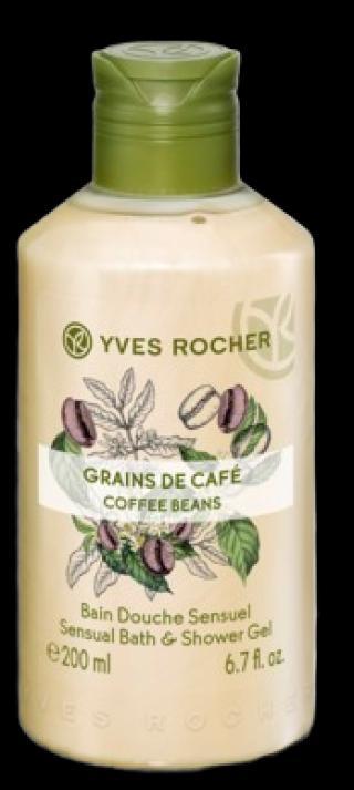 Yves Rocher Sprchový gel Zrnka kávy 200ml