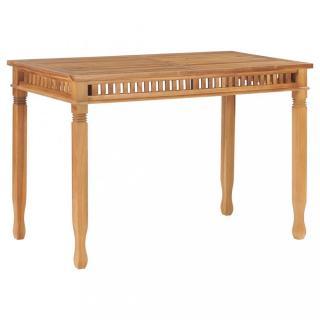 Zahradní jídelní stůl 120 x 65 cm teakové dřevo Dekorhome