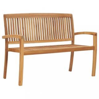 Zahradní lavička 2místná teakové dřevo Dekorhome