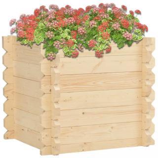 Zahradní truhlík 100x100x87,8 cm smrkové dřevo Dekorhome