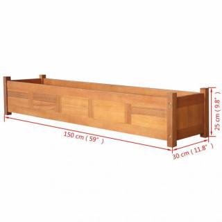 Zahradní truhlík akáciové dřevo Dekorhome 150x30x25 cm