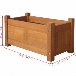 Zahradní truhlík akáciové dřevo Dekorhome 50x25x25 cm