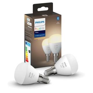 Žárovka LED Philips Hue Bluetooth, 5,7W, E14, White, 2ks