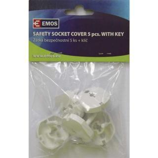 Záslepka do zásuvky bezpečnostní 5ks   1x klíč