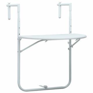 Závěsný stůl na balkon plast s ratanovým vzhledem Dekorhome Bílá