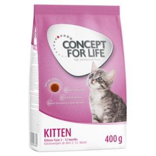 Zkušební balení Kitten: 400 g Concept for Life granule   12 x 85 g kapsičky - Concept for Life Kitten suché   kapsičky v želé