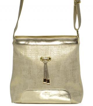 Zlatá menší elegantní crossbody kabelka Deboreh