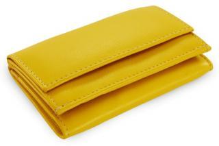 Žlutá kožená dámská menší peněženka Adrien
